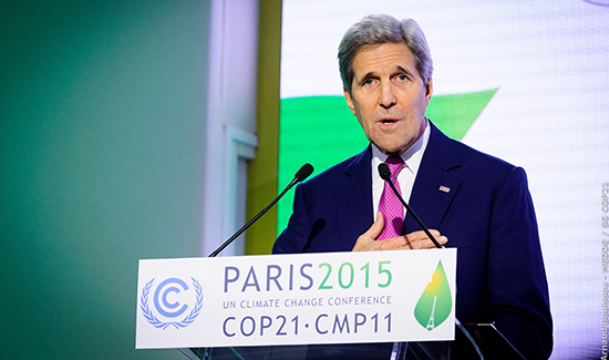 'We didn't come to Paris to build a ceiling. We came to build a floor.'—U.S. Secretary of State John Kerry in his address at COP21. Photo: COP PARIS
