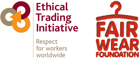 Ethical Trade Initiative and Fair Wear Foundation logos
